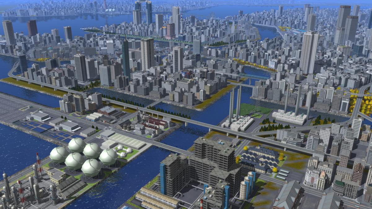 【A列車で行こう9】東京中心部マップ【再現してみ …